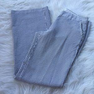 J. Crew City Fit Pinstriped Pants